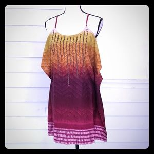 5/$20 Jessica Simpson ombré cold shoulder dress XS